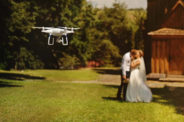 Ujęcia weselne z drona na śląsku
